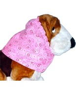 Dog Snood-Pink Floral Paisley Plisse-Cavalier King Charles Spaniel-Puppy... - $9.50