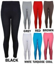 NEW LADIES PLUS SIZE PLAIN STRETCHY VISCOSE BLACK FULL LENGTH WOMENS LEGGINGS - $9.89