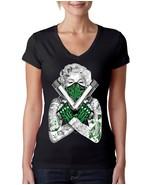Women's V Tee Shirt Marilyn Monroe Guns  - $14.99