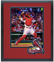 Yadier Molina 2014 St. Louis Cardinals - 11 x 14 Team Logo Matted/Framed Photo - $42.95