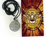 Necklace   espiritu santo medal   holy card h125.0895 001 thumb155 crop