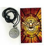 Necklace - Espiritu Santo Medal & Holy Card - LH125.0895 - $6.99
