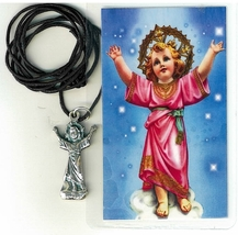 Necklace - Divino Nino Medal & Holy Card - LH125.0880 - $6.99
