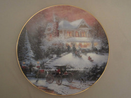 THOMAS KINKADE collector plate ALL FRIENDS ARE WELCOME Old Fashioned Chr... - $33.87