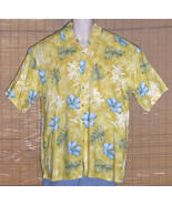 Grant Thomas Hawaiian Shirt 1950s Yellow Large - $23.95