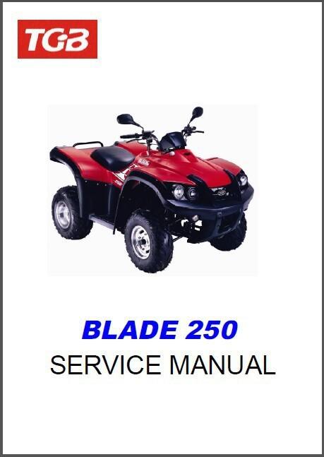 TGB Blade 250 ATV Service Repair  Workshop Manual CD