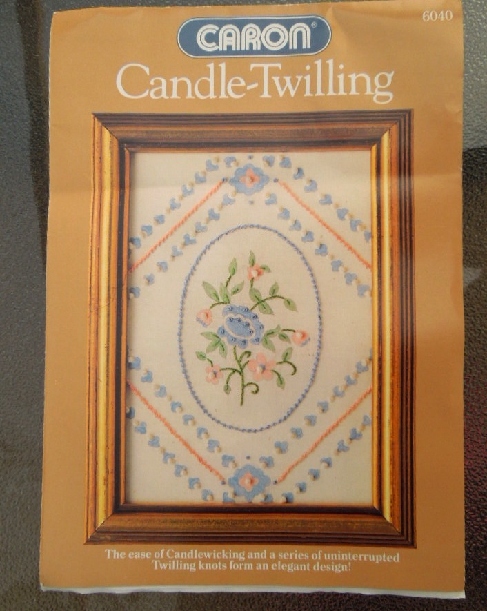 64 d4 candle twilling kit from woolworths1984  french tile floral  isee log needle easy instructions  1.49 kit  6978
