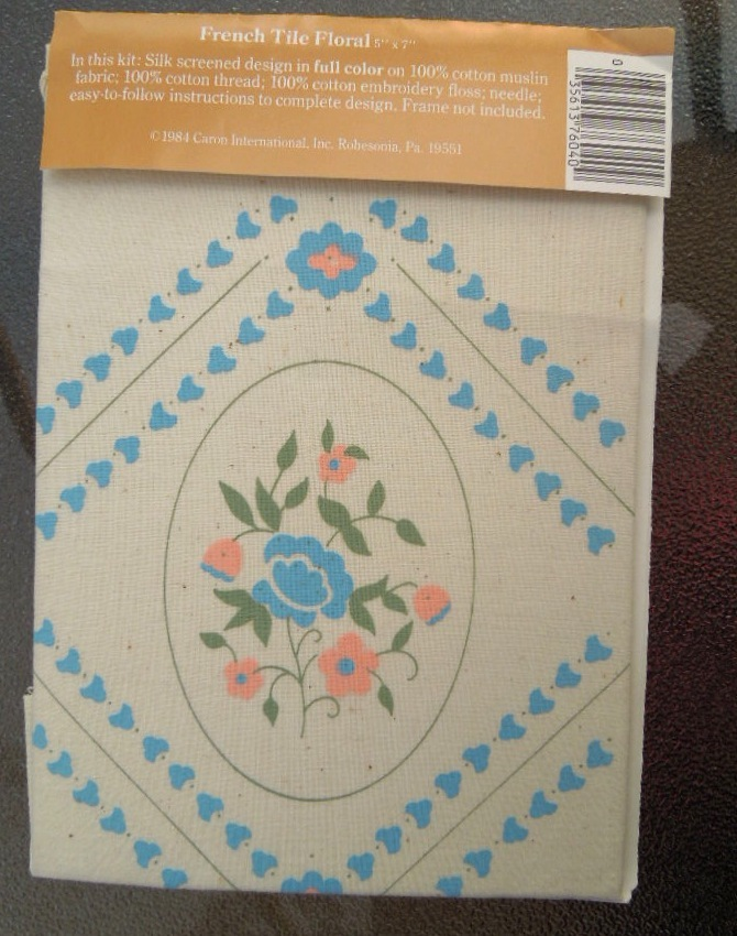 """Vintage Craft 1984 Candle Twilling Kit From Woolworths """"French Tile Floral""""#6978"""