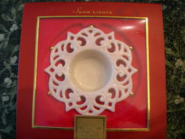LENOX ~ Snow Lights ~ Tea Light Snowflake Holiday Candle Holder ~ - $8.99