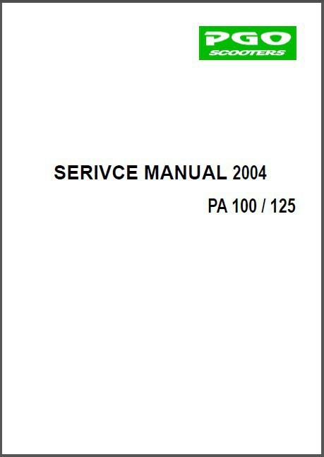 PGO PA-100 / PA-125 Buddy / Ligero Scooter Service Repair Workshop Manual CD