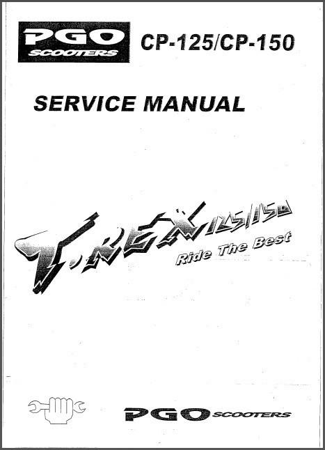 pgo t-rex 150 service manual