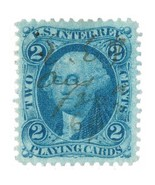 1862-71 R11c 2 cent First issue, Playing Cards, Blue, Washington, U.S. R... - $5.99