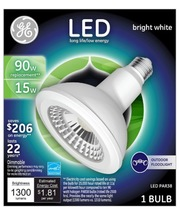 GE LED PAR38 Bright White 90W Equivalent Dimmable Light Bulb (3000K) use... - $17.99
