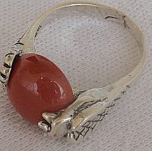 Blood stone snake ring - $22.00
