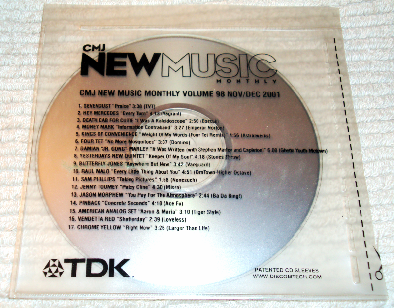 Primary image for CMJ New Music Monthly Vol. 98 PROMO CD Nov/Dec 2001 Sevendust...