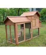 New Deluxe Wooden Chicken Poultry Bird Rabbit Pet Coop Hen house Hutch C... - $349.99