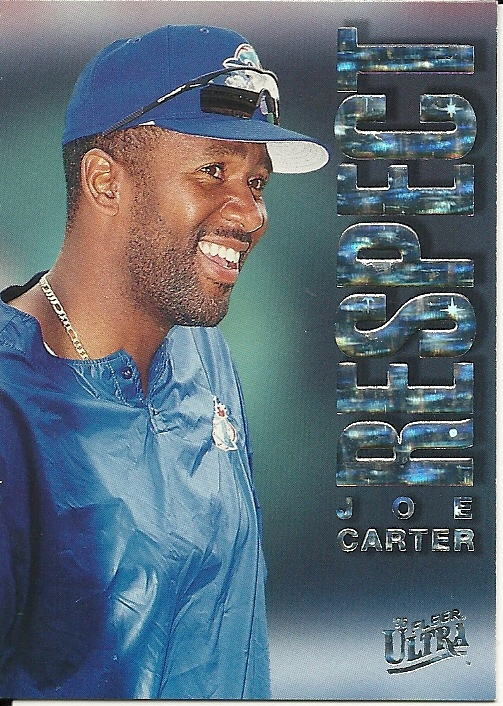 Primary image for 1996 Ultra Respect Joe Carter 1 Blue Jays