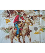 Fabric:  2-1/3 yd Cowboys & Train Robbery by House & Home - yellow backg... - $10.00