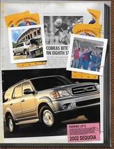 2002 Toyota SEQUOIA sales brochure catalog 02 SR5 Limited - $6.00