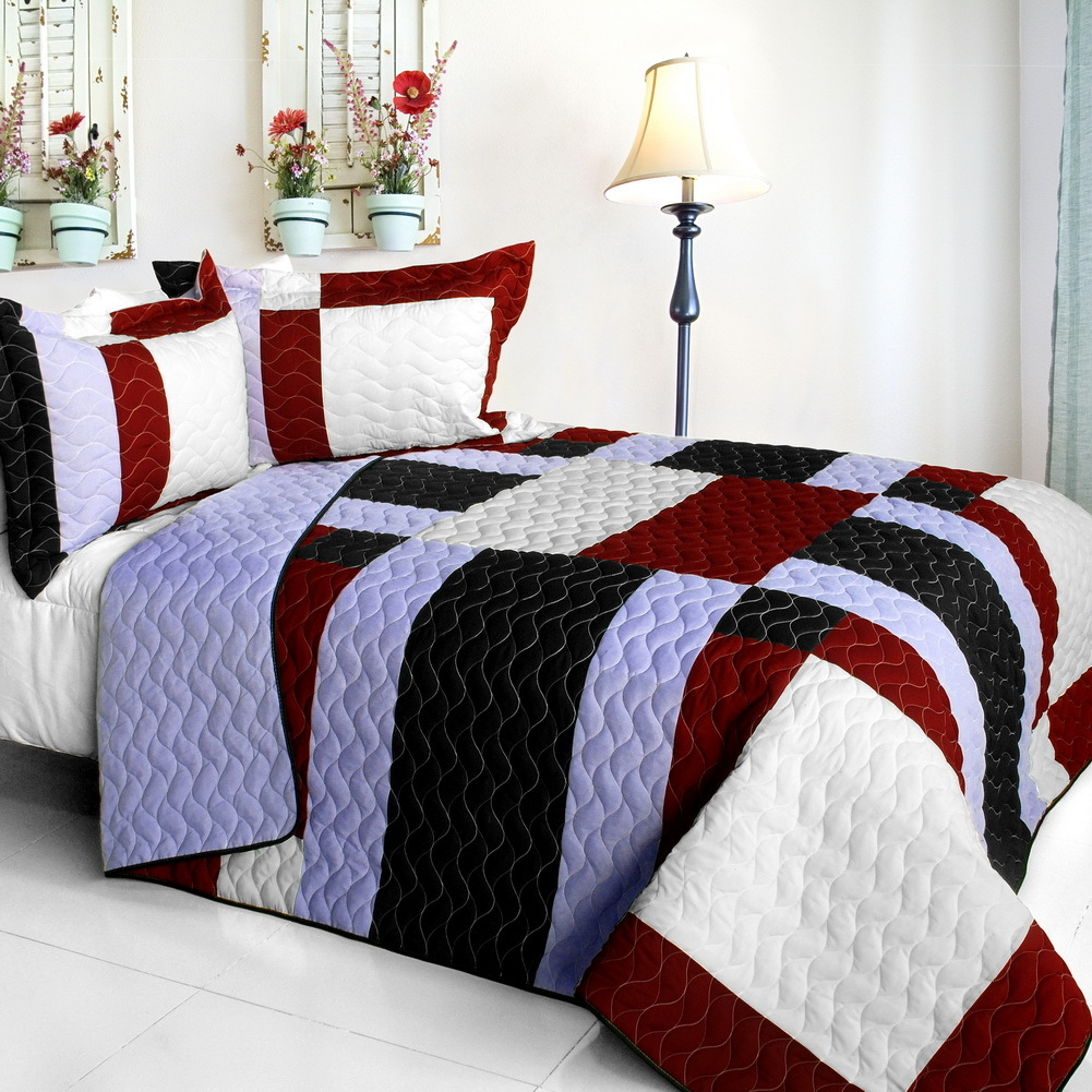Primary image for [Elegant Voice] Brand New Vermicelli-Quilted Patchwork Quilt Set Full/Queen