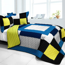 [Our Little World] 3PC Vermicelli - Quilted Patchwork Quilt Set (Full/Queen Size - $101.99