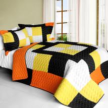 [Romance of Desert] 3PC Vermicelli - Quilted Patchwork Quilt Set (Full/Queen Siz - $101.99