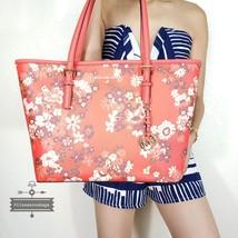NWT Michael Kors Jet Set Travel Medium Carryall Tote Bag in Dark Sangria Floral - $150.00