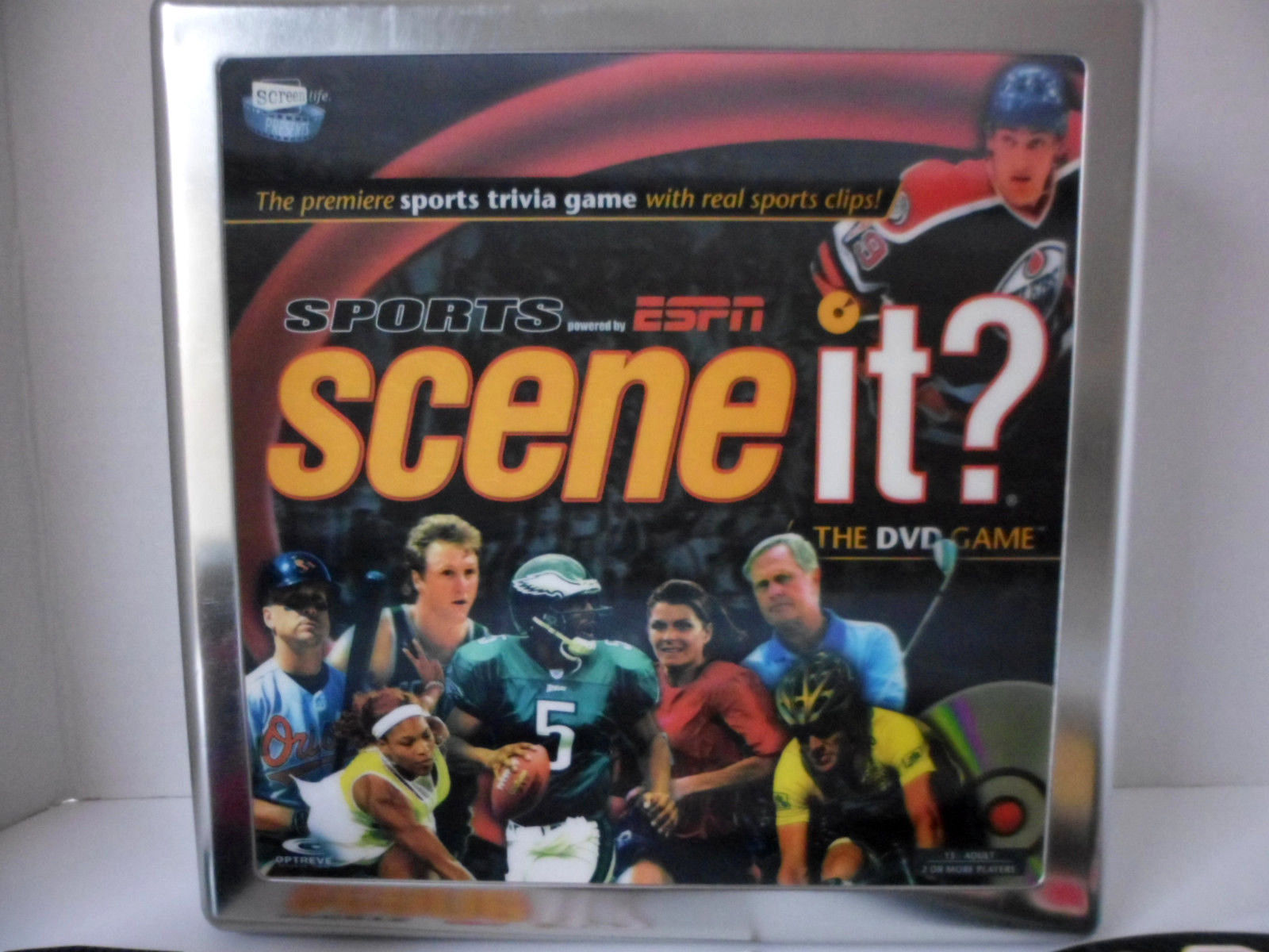 Primary image for Scene It? Collector's Tin ESPN Sports Edition The DVD Trivia Game 100% Complete