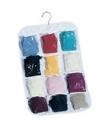 Household Essentials Hanging Clear Vinyl 12-Pocket Stocking Organizer [M... - £5.31 GBP