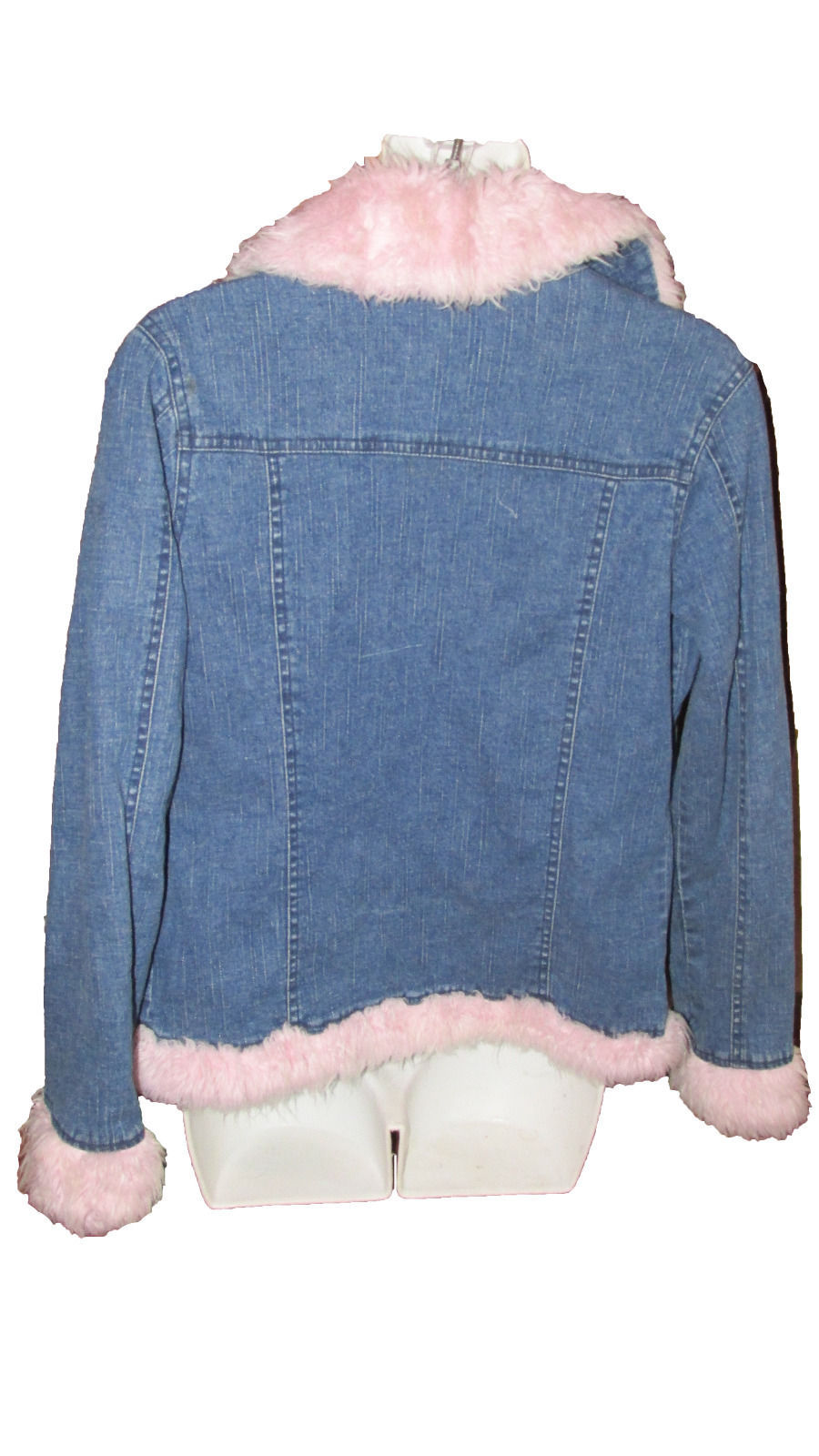 Primary image for Womens  Denim jacket with Pink Faux fur by BB Dakota Kids