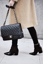 AUTHENTIC CHANEL BLACK QUILTED CAVIAR MAXI CLASSIC DOUBLE FLAP BAG GHW image 13