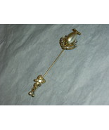 Vintage Miriam Haskell Stick Pin Baroque Pearl Cartouche - $59.00