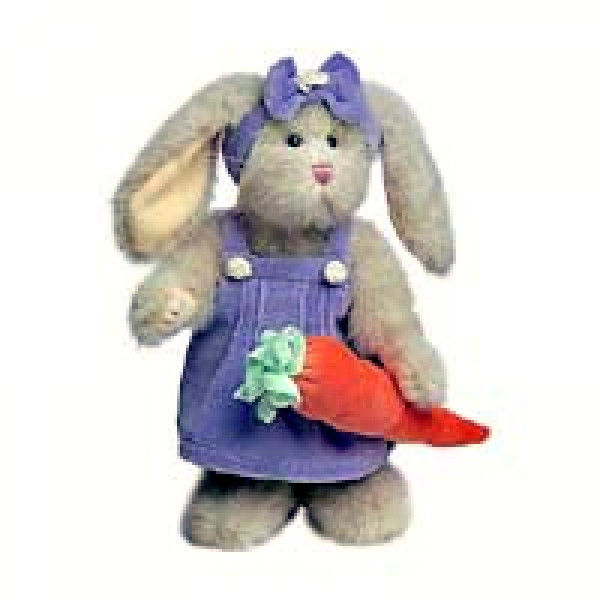 "Primary image for Boyds Bears ""Brittney Q Hopplebuns"" 8"" Plush Bunny  #916633- NWT -2002 - Retired"