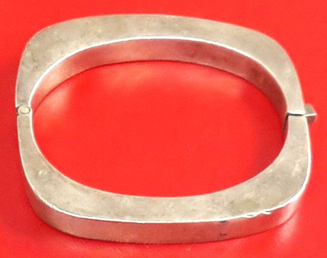 Primary image for VINTAGE TAXCO MEXICO STERLING SILVER MODERNIST SQUARE BRACELET 925 37.8 g