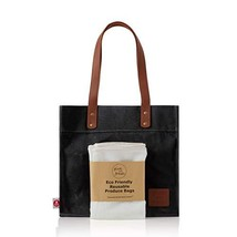 Give Me Fresh No. 2 - SET - Waxed Canvas Grocery Bag PLUS 3 Reusable Mesh Produc - $31.21