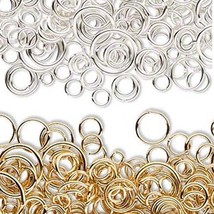 Lot of 300 Assorted Size & Gauge Open Round Jumpring Jewelry Ring Loop F... - $5.44+