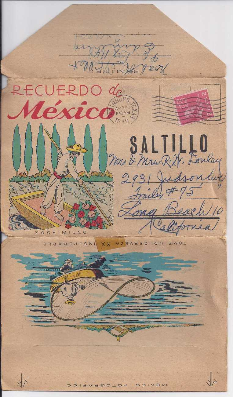 Postcards recuerdos mexico
