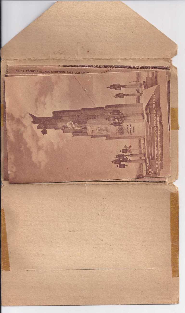 RECUERDO DE MEXICO SALTILLO 1949 Souvenir PostCard Picture Pack of 20