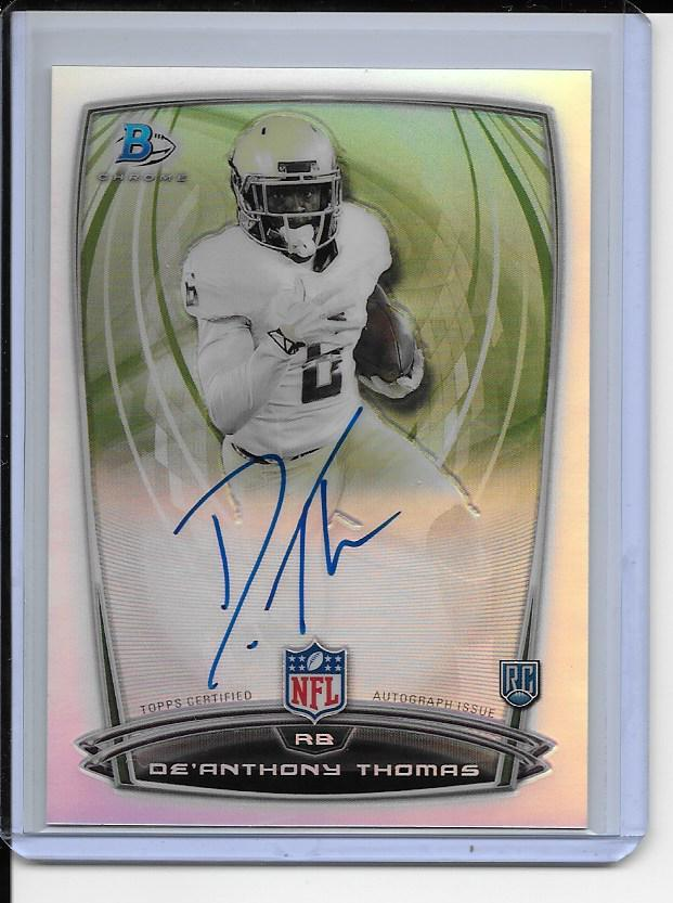 Primary image for De'Anthony Thomas AUTOGRAPH ROOKIE Card 2014 Bowman Chrome  RC AUTO REFRACTOR
