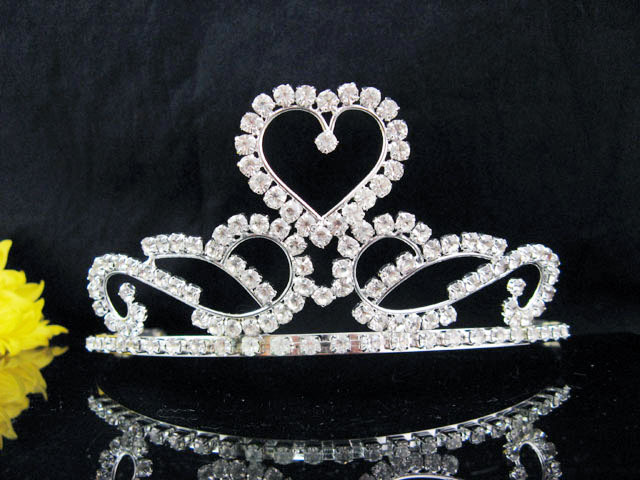 Primary image for HUGE BRIDAL HEADPIECE,WEDDING TIARA,CRYSTAL BRIDESMAID BRIDE ELEGANT REGAL 8521
