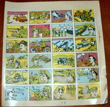 Vintage 1960's Comic Army Israel IDF Stickers Decals Page Israeliana Rare