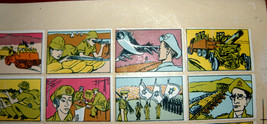 Vintage 1960's Comic Army Israel IDF Stickers Decals Page Israeliana Rare image 2