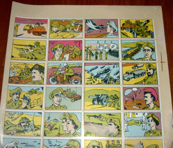 Vintage 1960's Comic Army Israel IDF Stickers Decals Page Israeliana Rare image 3
