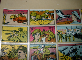 Vintage 1960's Comic Army Israel IDF Stickers Decals Page Israeliana Rare image 5