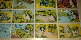 Vintage 1960's Comic Army Israel IDF Stickers Decals Page Israeliana Rare image 6