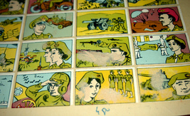 Vintage 1960's Comic Army Israel IDF Stickers Decals Page Israeliana Rare image 9