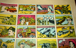 Vintage 1960's Comic Army Israel IDF Stickers Decals Page Israeliana Rare image 10