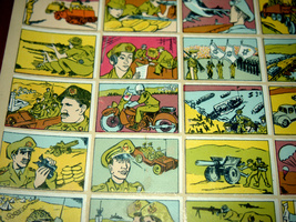 Vintage 1960's Comic Army Israel IDF Stickers Decals Page Israeliana Rare image 11