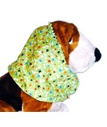 Dog Snood Green Mini Paws Bones Cotton Cavalier King Charles Spaniel Pup... - $9.50