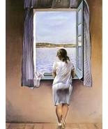 16X20 inch Salvador Dali Abstract Canvas Art Repro Figure@Window - $23.70